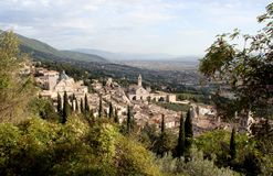 Assisi Italy Countryside Stock Photography