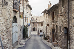 ASSISI, ITALY - JANUARY 23, 2010: Street in Assisi Stock Image