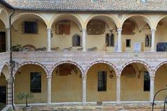 Famous Basilica of St. Francis of Assisi Basilica Papale di San Francesco stock photo