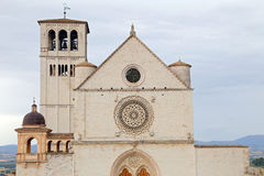 Famous Basilica of St. Francis of Assisi Basilica Papale di San Francesco Stock Image