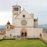 Famous Basilica of St. Francis of Assisi Basilica Papale di San Francesco Royalty Free Stock Photos