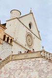 Famous Basilica of St. Francis of Assisi Basilica Papale di San Francesco. ASSISI, ITALY 30 JUNE, 2017: Famous Basilica of St. Francis of Assisi Basilica Papale Royalty Free Stock Photography