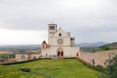Famous Basilica of St. Francis of Assisi Basilica Papale di San Francesco. ASSISI, ITALY 30 JUNE, 2017: Famous Basilica of St. Francis of Assisi Basilica Papale Stock Image