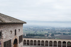 Assisi, Italy from Mountain View Royalty Free Stock Photos