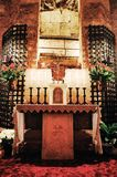 Basilica of Saint Francis of Assisi, Altar & Tomb of St Francis, Assisi, ITALY. stock images