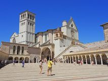 Assisi, Italy. The Basilica and the Sacred Convent of Saint Francis Royalty Free Stock Image