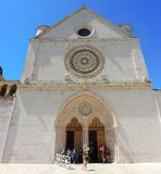 Assisi, Italy. The Basilica and the Sacred Convent of Saint Francis Stock Image