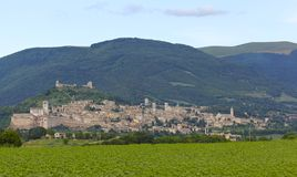 Assisi, Italy Skyline Royalty Free Stock Photo