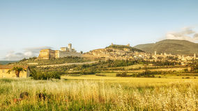 Assisi in Italy Umbria at the evening Royalty Free Stock Images
