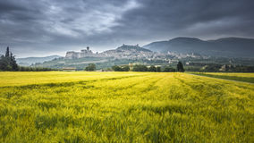 Assisi in Italy Umbria at the evening Stock Image