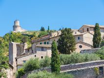Assisi, Italy, a Unesco world heritage. Historical buildings in the old city center Royalty Free Stock Image
