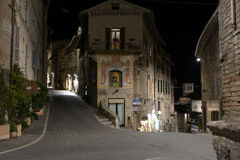 Assisi, Italy, Urban landscape. At night Stock Photo