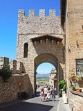 Assisi, Italy. Views at the streets of the old city center a Unesco world heritage Royalty Free Stock Images