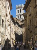 Assisi, Italy. Views of the streets of the old city center, a Unesco world heritage Stock Photos