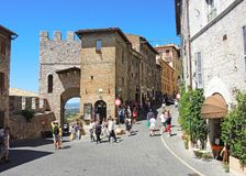 Assisi, Italy. Views at the streets of the old city center a Unesco world heritage Stock Photos