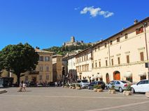 Assisi, Italy. Views of the streets of the old city center, a Unesco world heritage Royalty Free Stock Images