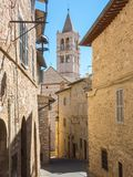 Assisi, Italy. Views of the streets of the old city center, a Unesco world heritage Stock Images