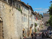 Assisi, Italy. Views of the streets of the old city center, a Unesco world heritage Stock Image