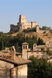 Assisi kasztel, Umbria, Włochy Fotografia Stock