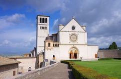 Assisi kyrka Arkivfoto