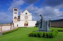 Assisi kyrka royaltyfria bilder