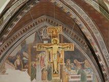 Assisi - kyrka för St Chiara arkivbilder