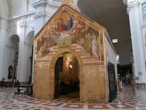 Assisi - kyrkliga St Mary av änglar arkivfoto