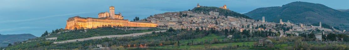 Assisi - la ciudad antigua de St Francis Fotos de archivo libres de regalías