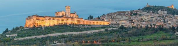 Assisi - la ciudad antigua de St Francis Imagen de archivo