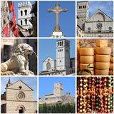 Assisi landmarks collage Stock Photography