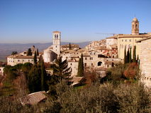 Assisi landscape royalty free stock photos