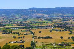 Assisi Landscape Stock Images