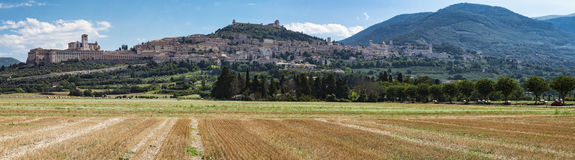 Assisi-Landschaft Lizenzfreie Stockbilder