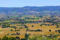 Assisi landskap arkivbilder