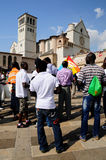 Assisi Marching Peace Royalty Free Stock Image