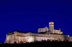 Assisi-Nacht Lizenzfreie Stockfotos