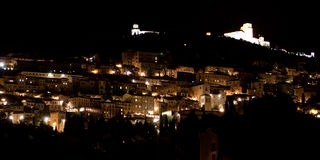 Assisi by night Stock Photo