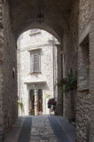 Assisi, old street Royalty Free Stock Photos