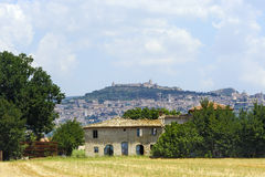 Assisi, panorama and old farm Royalty Free Stock Photos