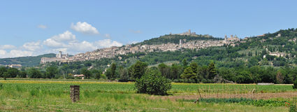 Assisi panorama 1 Royalty Free Stock Images