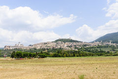 Assisi, panoramic view Royalty Free Stock Images