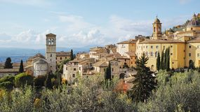 Assisi panoramic view, Umbria, Italy. royalty free stock images