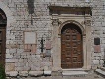 Assisi - place de la municipalité photographie stock
