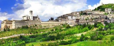 Assisi - religiöse historische Stadt in Umbrien, Italien stockbilder