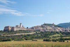 Assisi sikt Arkivbilder