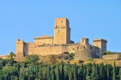 Assisi slott Arkivbild