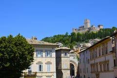 Assisi slott royaltyfria bilder