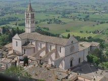Assisi - St Chiara kerk stock afbeelding