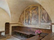 Assisi - St Damiano святилища стоковые фотографии rf