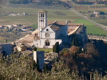 Assisi St. Francis basilica Royalty Free Stock Photography